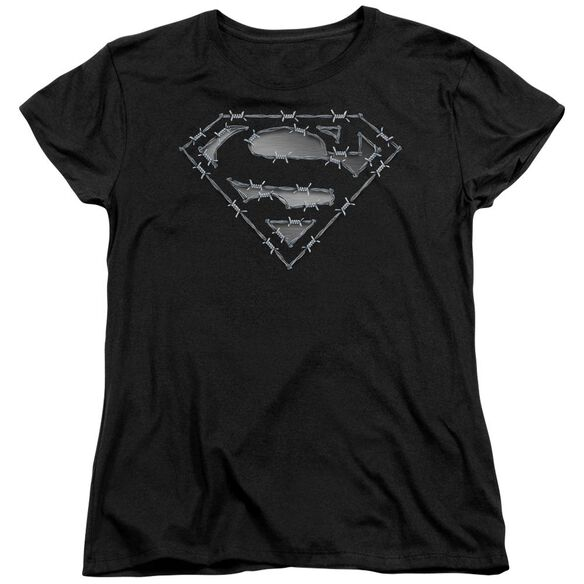 Superman Barbed Wire Short Sleeve Womens Tee T-Shirt
