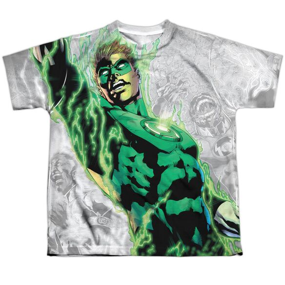 Green Lantern Light Em Up Short Sleeve Youth Poly Crew T-Shirt
