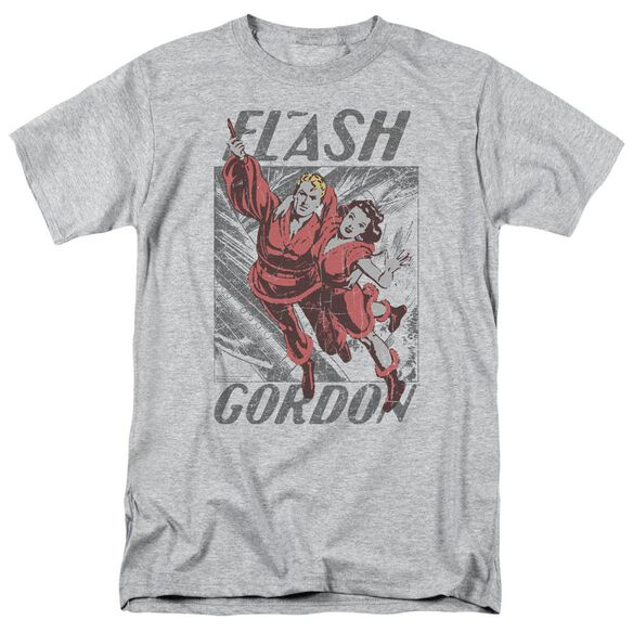 Flash Gordon To The Rescue Short Sleeve Adult Athletic Heather T-Shirt