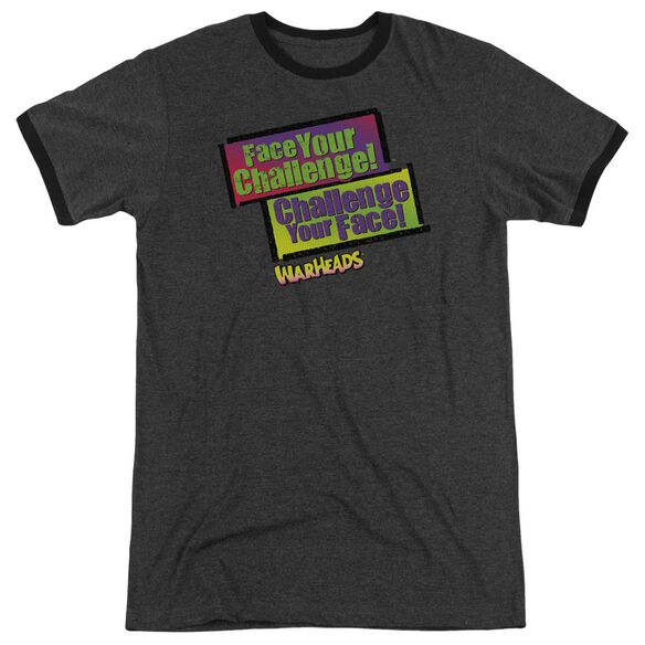 Warheads Face Your Challenge Adult Heather Ringer Charcoal