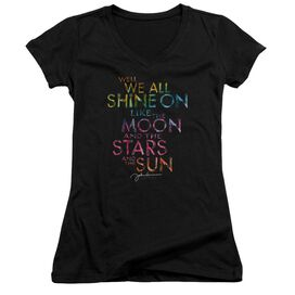John Lennon All Shine On Junior V Neck T-Shirt