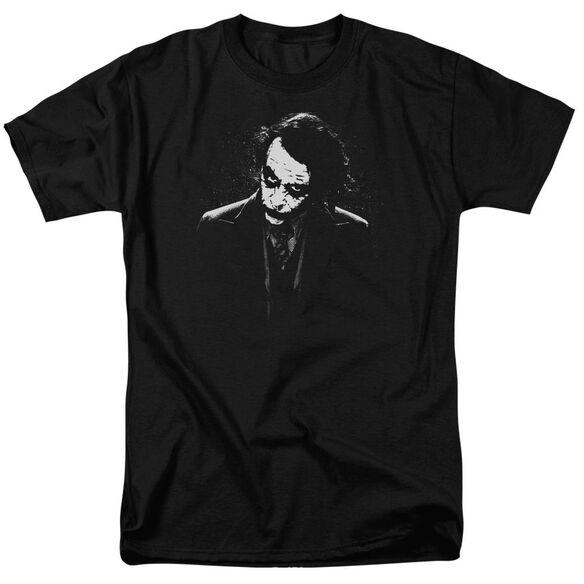Dark Knight Dark Joker Short Sleeve Adult Black T-Shirt