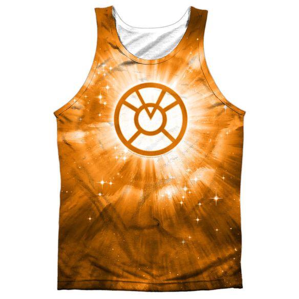 Green Lantern Orange Energy Adult 100% Poly Tank Top