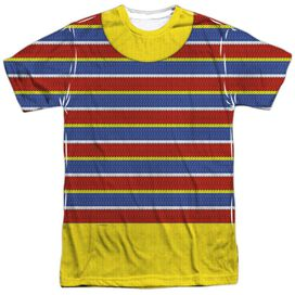Sesame Street Ernie Costume Short Sleeve Adult Poly Crew T-Shirt