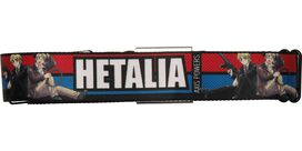 Hetalia Axis Powers Name Red and Blue Stripe Seatbelt Mesh Belt
