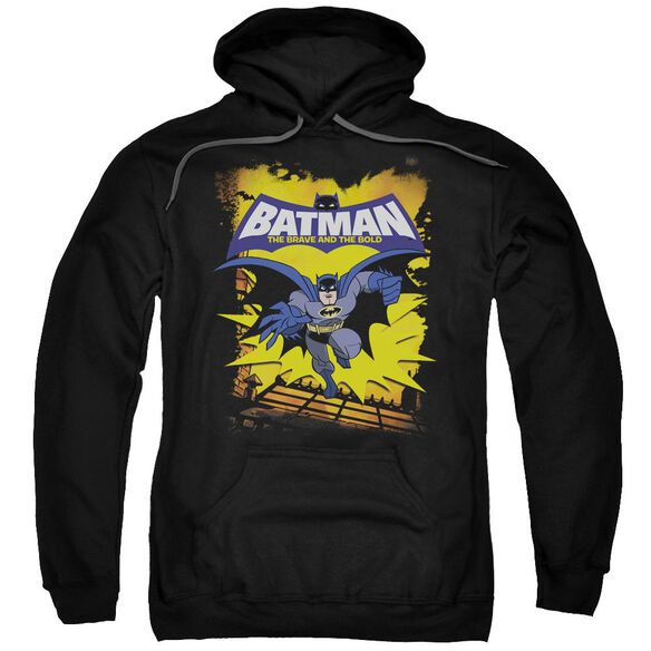 Batman Bb Rooftop Leap Adult Pull Over Hoodie