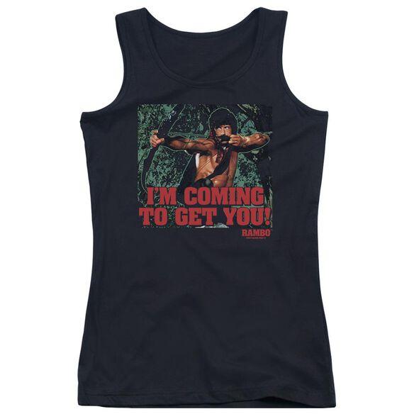 Rambo:First Blood Ii I'm Coming Juniors Tank Top