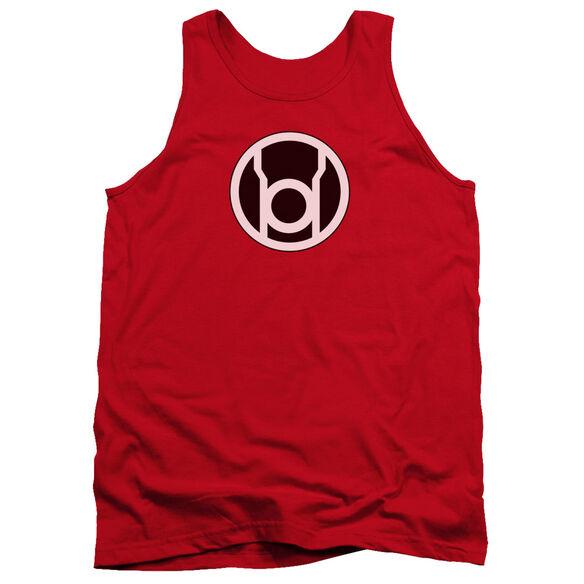 Green Lantern Red Lantern Logo - Adult Tank - Red