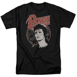 David Bowie Space Oddity Short Sleeve Adult Black T-Shirt