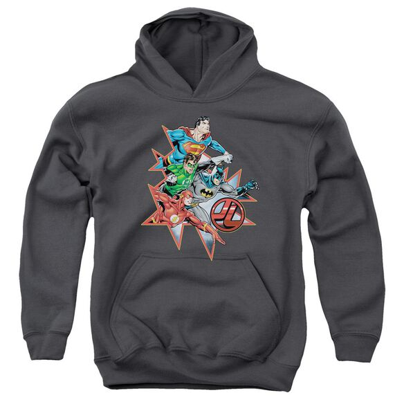 Jla Starburst Youth Pull Over Hoodie