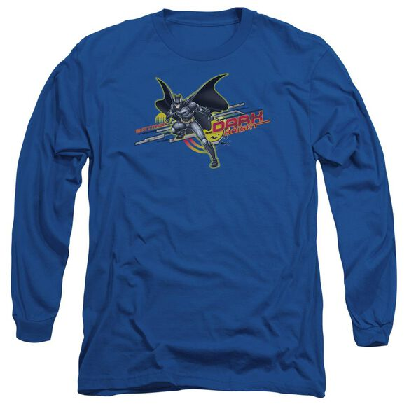 Dark Knight Knight Tech Long Sleeve Adult Royal T-Shirt
