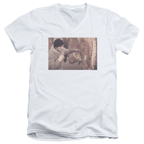 Rocky Meat Locker Short Sleeve Adult V Neck T-Shirt