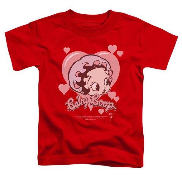 Betty Boop Baby Heart Short Sleeve Toddler Tee Red Sm T-Shirt