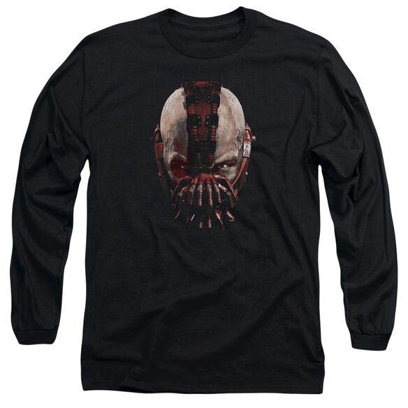 Dark Knight Rises Bane Mask Long Sleeve Adult T-Shirt