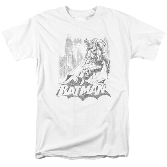Batman Bat Sketch Short Sleeve Adult T-Shirt