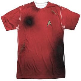 Star Trek Tos Dead Red Short Sleeve Adult Poly Crew T-Shirt