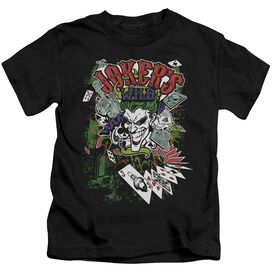 Batman Jokers Wild Short Sleeve Juvenile Black T-Shirt