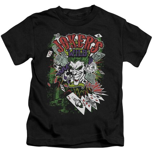 Batman Jokers Wild Short Sleeve Juvenile Black T-Shirt