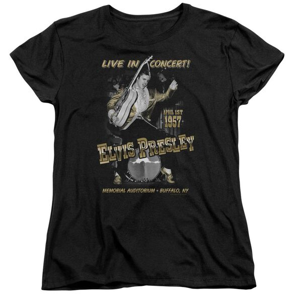 Elvis Presley Live In Buffalo Short Sleeve Womens Tee T-Shirt