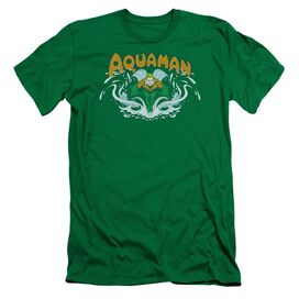 Dc Aquaman Splash Short Sleeve Adult Kelly T-Shirt