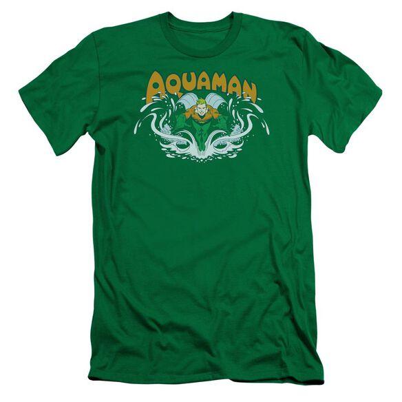 Dc Aquaman Splash Short Sleeve Adult Kelly T-Shirt