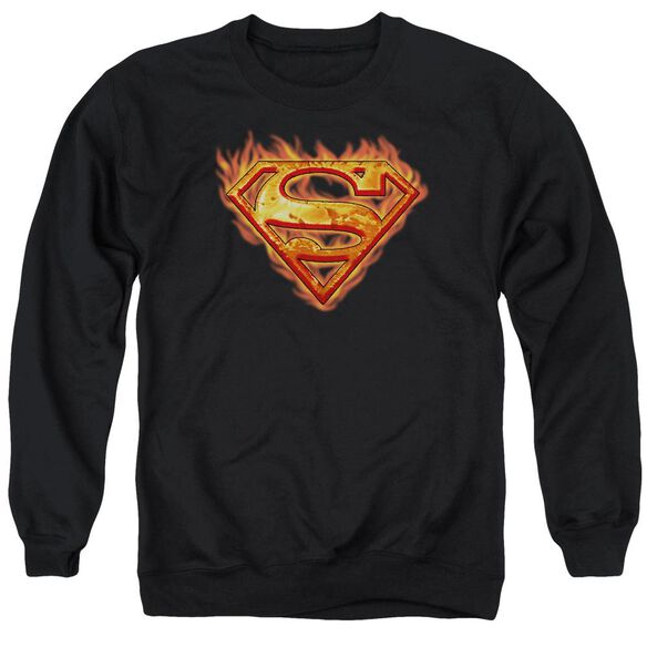 Superman Hot Metal - Adult Crewneck Sweatshirt - Black