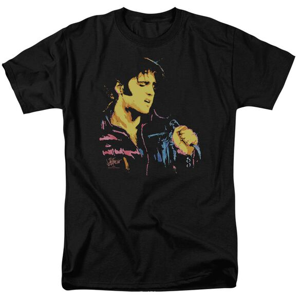Elvis Neon Elvis Short Sleeve Adult T-Shirt