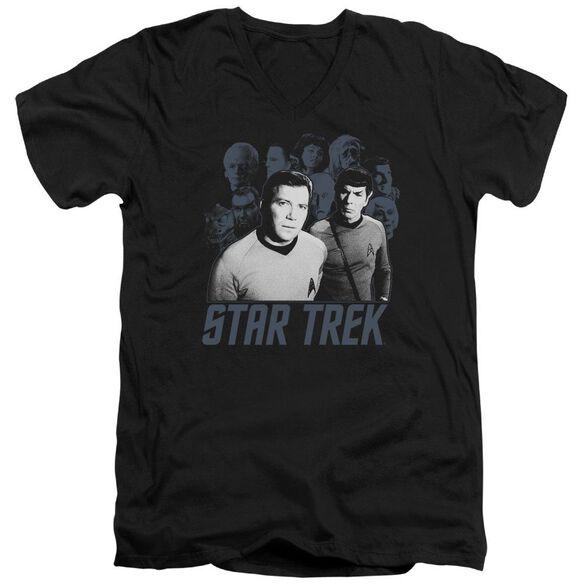 Star Trek Kirk Spock And Company Short Sleeve Adult V Neck T-Shirt