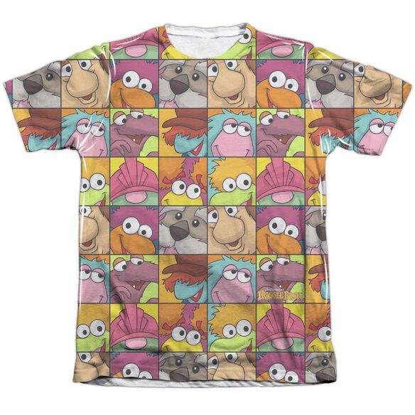 Fraggle Rock Character Squares Adult Poly Cotton Short Sleeve Tee T-Shirt