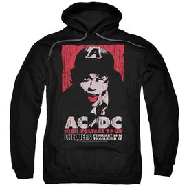 Acdc High Voltage Live 1975 Adult Pull Over Hoodie