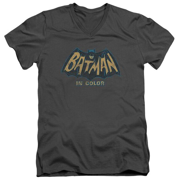Batman Classic Tv In Color Short Sleeve Adult V Neck T-Shirt