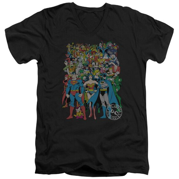 Dc Original Universe Short Sleeve Adult V Neck T-Shirt
