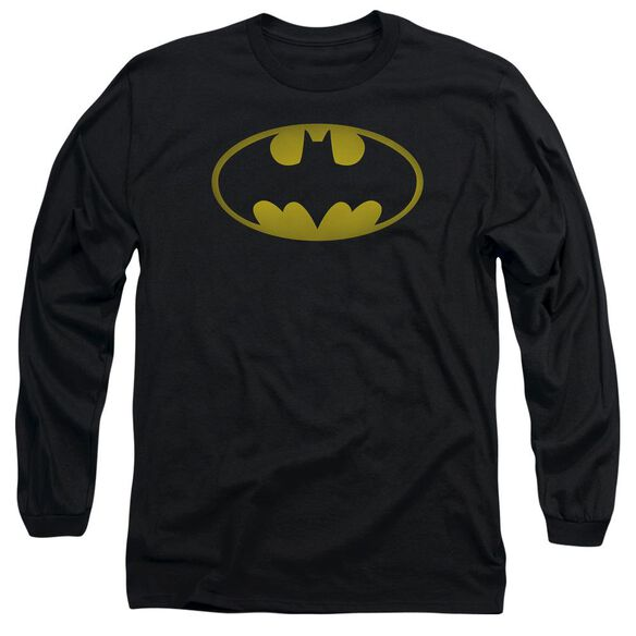 Batman Washed Bat Logo Long Sleeve Adult T-Shirt