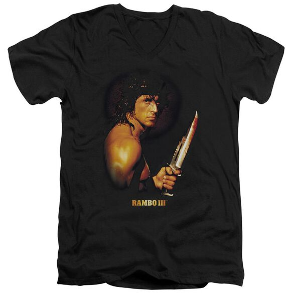 Rambo Iii Blood Lust Short Sleeve Adult V Neck T-Shirt