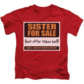 SISTER FOR SALE - JUVENILE 18/1 - RED - T-Shirt