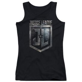 Justice League Movie Shield Logo Juniors Tank Top