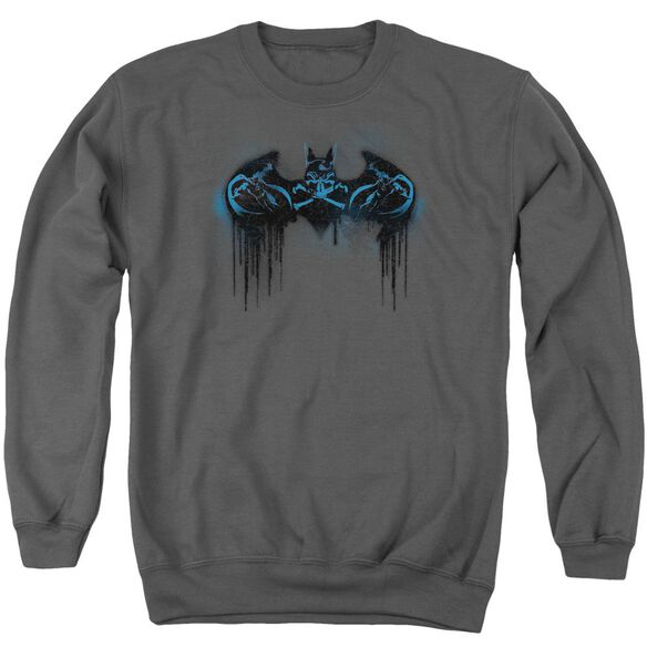 Batman Run Away Adult Crewneck Sweatshirt