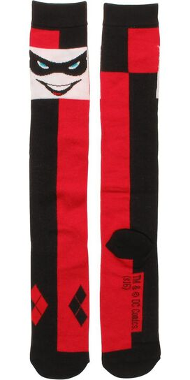 Harley Quinn Face Ladies Knee High Socks