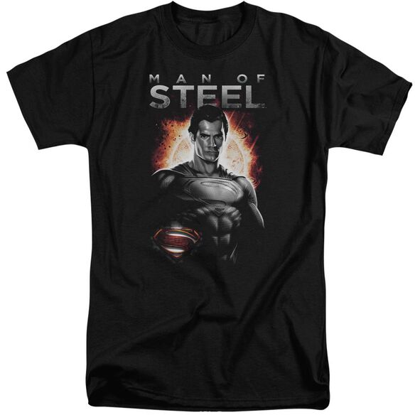 Man Of Steel Steel Short Sleeve Adult Tall T-Shirt