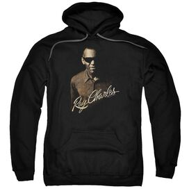 Ray Charles The Deep Adult Pull Over Hoodie Black