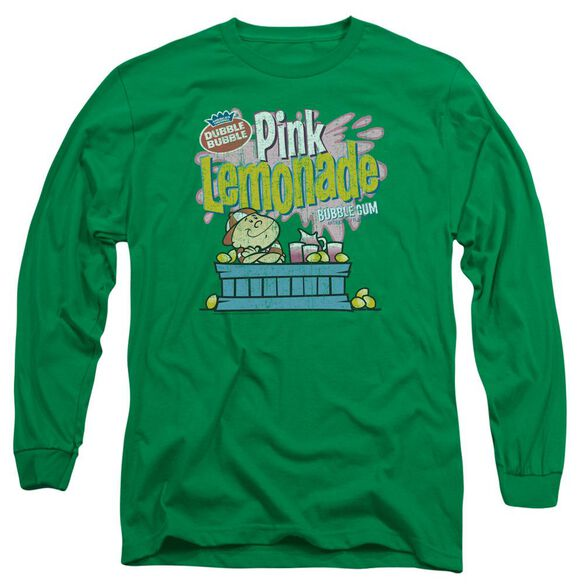 Dubble Bubble Pink Lemonade Long Sleeve Adult Kelly T-Shirt