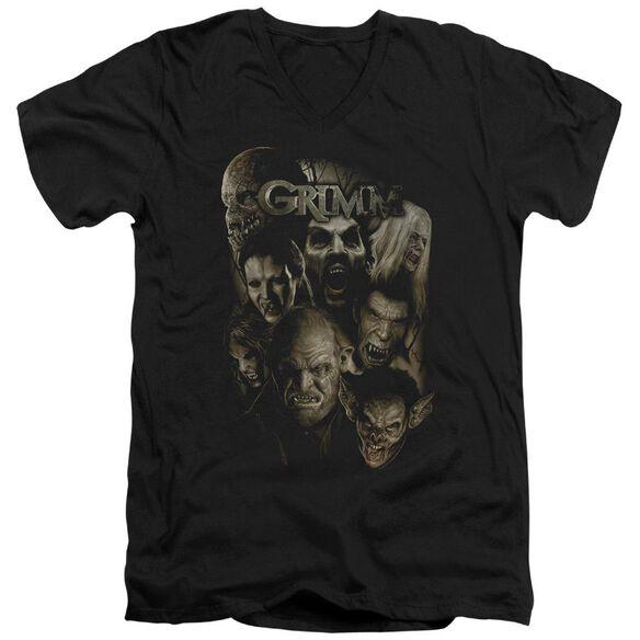 Grimm Wesen Short Sleeve Adult V Neck T-Shirt