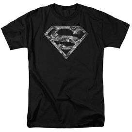 Superman Urban Camo Shield Short Sleeve Adult T-Shirt