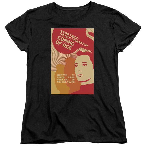 Star Trek Tng Season 1 Episode 19 Short Sleeve Womens Tee T-Shirt
