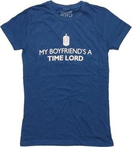 Doctor Who Boyfriend's a Time Lord Juniors T-Shirt