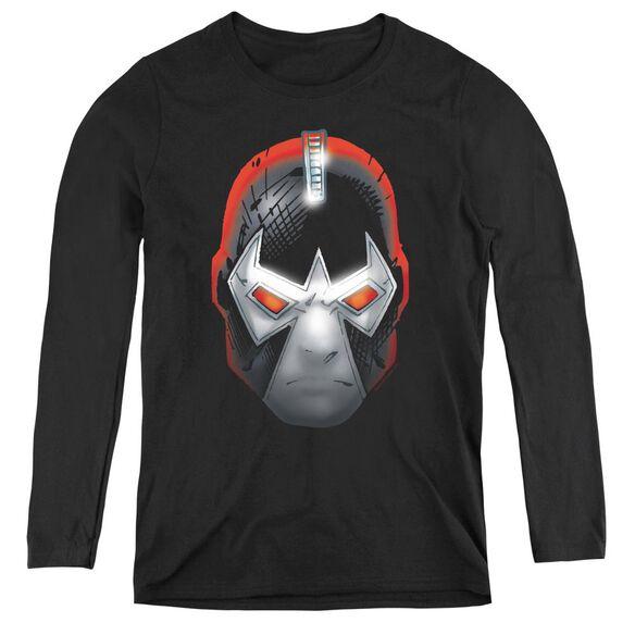 Batman Bane Head - Womens Long Sleeve Tee - Black