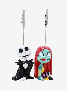 Nightmare Before Christmas Jack & Sally Photo Clip Holders