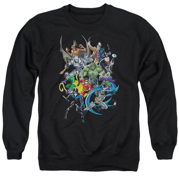 Batman Saints And Psychos - Adult Crewneck Sweatshirt - Black