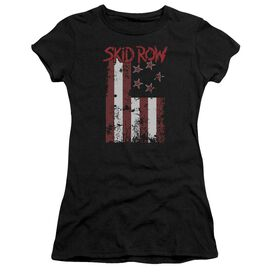 Skid Row Flagged Short Sleeve Junior Sheer T-Shirt