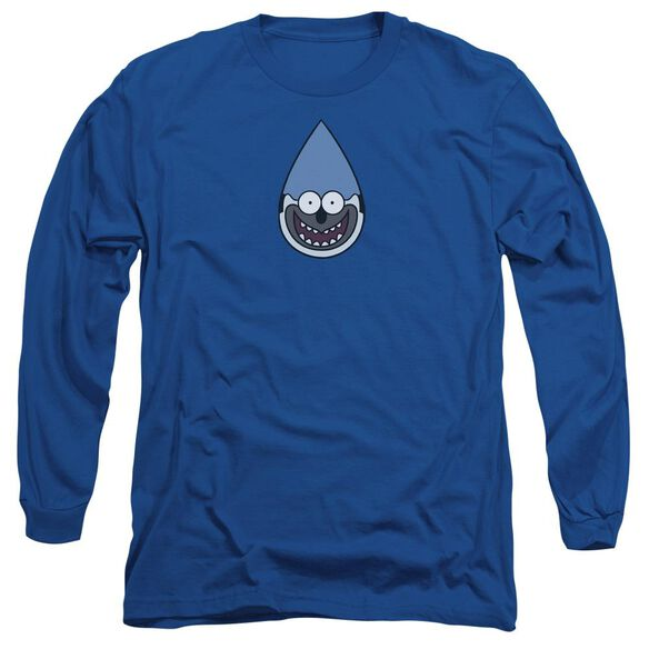 Regular Show Mordecai Long Sleeve Adult Royal T-Shirt